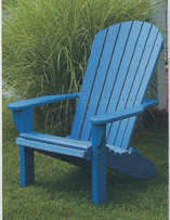 Amish Poly Chair Fan-Back