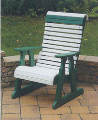 Amish Poly Roll-Back Chair
