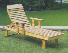 Sun Lounge Amish Wood