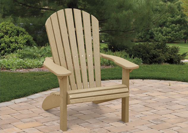 Amish Poly Fan Back Chair