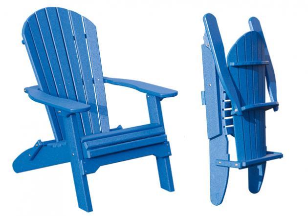 Amish Poly Fan Back Folding Chair