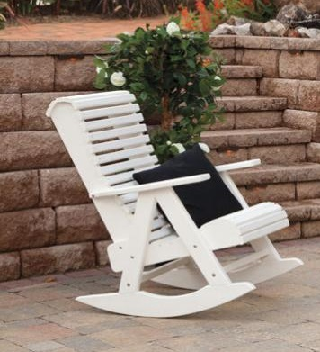 Amish Poly Roll Back Chair