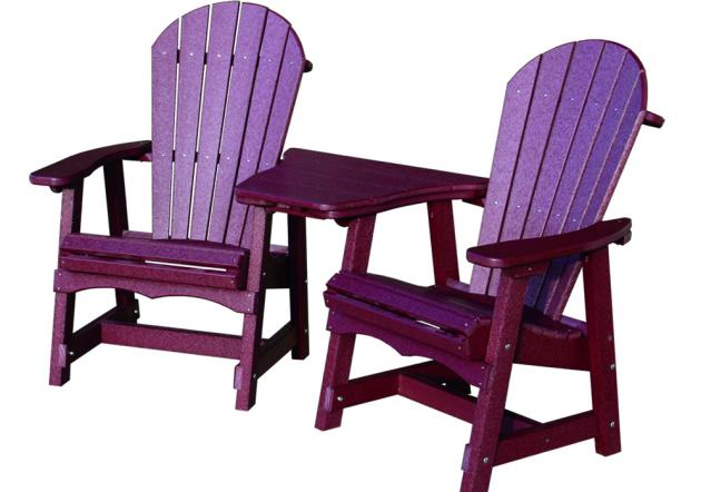 Amish Poly Deck Settee