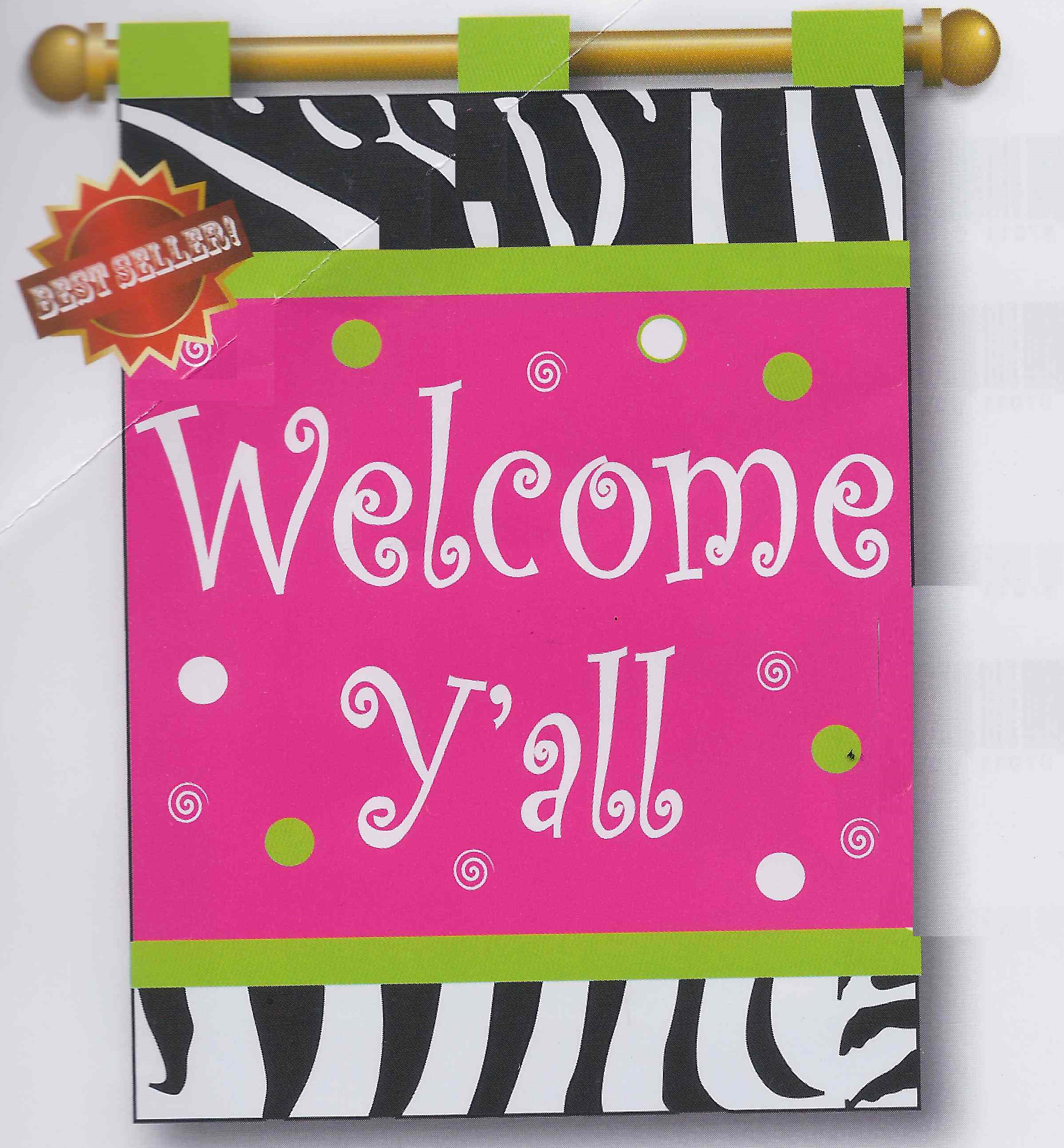 Welcome Yall flag from freckledfrogVA.com